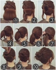 Easy Bun Hairstyle for Short Hair   Makeup Mania