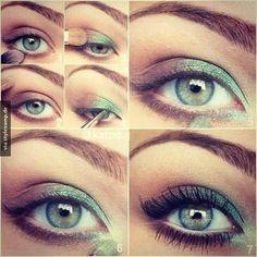Tutorial für grüne Augen!