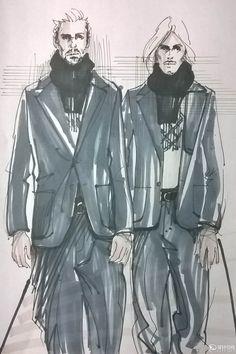 手绘阿玛尼英顿庄园系列 - 服装画/服装设计手稿 - 穿针引线服装论坛