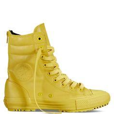Chuck Taylot All Star Hi-Rise Rubber Boot, $55; converse.com   - ELLE.com