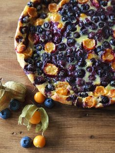 Pichuberry and blueberry flaugnarde - The pichuberry is an ancient fruit native to Peru.