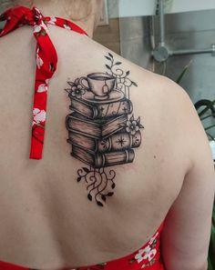 black and gray book tattoo © ALTERNATIVE ART Tattoo Studio 💗📖✨💗📖✨💗