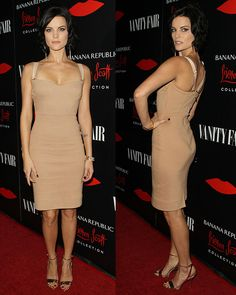 I LOVE this dress!!! Where can I get one made affordably??? Jaimie Alexander Banana Republic L'Wren Scott Collection Launch November 2013