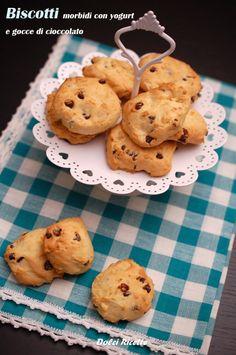 Biscotti morbidi con yogurt e gocce di cioccolato  #biscotti #cookies #yogurt