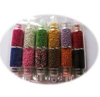 Moda Caviar Nail Art set Nuevo 12 colores de plástico de los granos Manicura o pedicura uñas Ventas Arte Decoración calientes