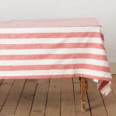 Yarn Dyed Stripe Tablecloth at Terrain