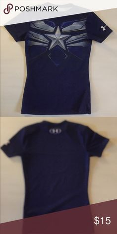 Under Armour boys shirt like new! This is a boys Marvel series Under Armour shirt in excellent condition! Under Armour Shirts & Tops