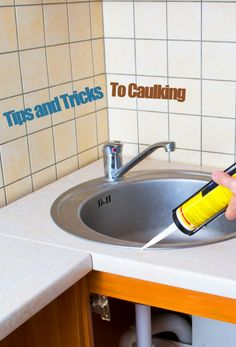Caulking is a big help in home improvement, but sometimes it is daunting to apply. Learn how to do it right with these tips and tricks. #caulking #tips