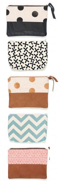 Loving these adorable zipper pouches! What a fun idea