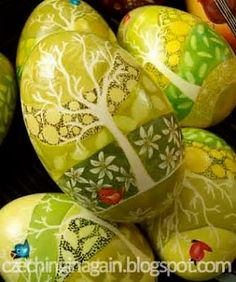 Czech Egg Decorating - Kraslice   the tree symbolizing a wish for a long life and other parts of the tradition...