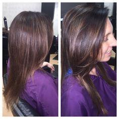 Soft ombré with balayage highlights!! #Balayage #natualombre #haircolor #fun #BellaBeauties #BellaBlu4Hair #BellaBluBeauties