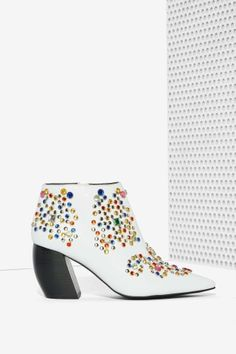 Jeffrey Campbell Arliss Jeweled Ankle Boot