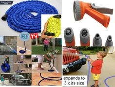 Sale Magic Flexible Garden Hose Xl Xxl Available In Blue Orange Or Green With Matching Spray Gun Sprinkler 7 Different Settings A Great Gift Idea For Sale in Newry, Down from giftthingz Gifts For Mum, Love Gifts, Gifts For Friends, Great Gifts, Hand Tools For Sale, Water Tap, Original Gifts, Train Set, Sprinkler
