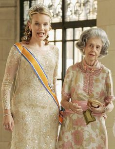 royalbabies:  Queen Mathilde with Queen Fabiola