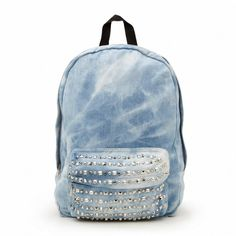 Stud Denim Backpack  sportsgirl fa85caef81d52