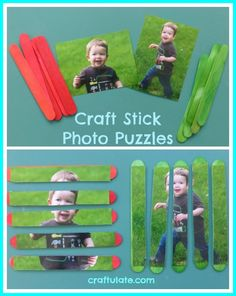 Craft Stick Photo Puzzles - Craftulate