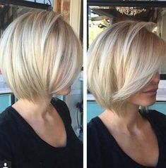"Fine hair. If you accept accomplished hair, ask your stylist for a ""graduated bob,"" which are ample layers cut beneath in the back, best in the advanced that accord beard bare anatomy and acme at the crown. Related PostsBest Of 10 Short Hairstyles For Fine HairEasy-to-Style Graduated Bob for Fine Hair15 Must See Short Hair …"
