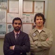 """And Ansari and Samberg, taking care of business. 