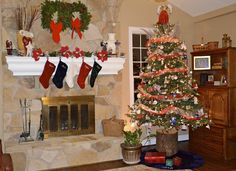 Use A Log To Make Christmas Tree Taller For Larger Room