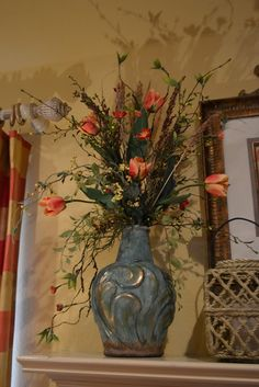 Kristens Creations: Spring Mantel 2013