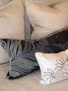 I want to remember these pillows...especially the one in the foreground!
