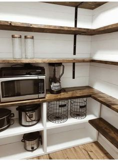 Pantry Renovation, Home, Farmhouse Shelves, Home Remodeling, Home Renovation, Home Kitchens, Pantry Design, Pantry Room, Small Cupboard