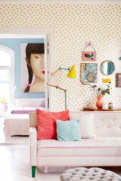 Gold dot wallpaper RICE Eiffinger