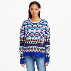 Collection cashmere graphic Fair Isle sweater : Womens | J.Crew