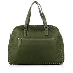 Valentino Tasche – Duffle Bag Nylon Army Green – in grün – Henkeltasche für Damen