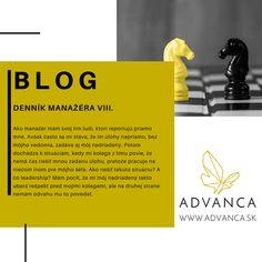 Blog, ktorý ponúka tipy a praktické rady pri riadení a vedení ľudí. Denník manažéra VIII. sa venuje téme ledareship a zadávania úloh šéfom šéfa.  Rady poskytujú psychológovia dlhodobo pôsobiaci v pracovnej sféra a v korporátoch z rôznych odvetví. Leadership, Blog, Blogging