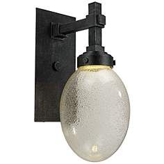 Pike Place - 18 1 LED Outdoor Wall Lantern Iron Ore Finish with Pellet Glass Outdoor Wall Lighting, Led Lights, Contemporary Lighting, Led Wall Sconce, Sconces, Outdoor Walls, Led Outdoor Wall Lights, Lamps Plus, Lights