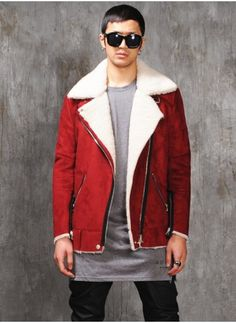 Genuine Men's Shearling Coat, Vintage Shearling Coat, Authentic ...