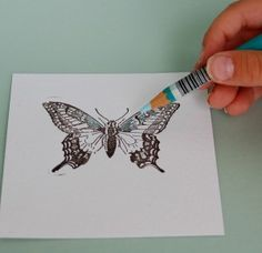WOW #3: Watercolor Pencil Tutorial and cricut imagine ideas from create