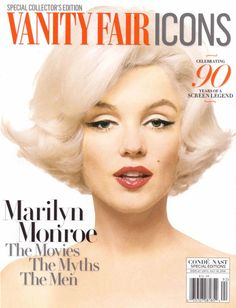 Vanity Fair Icons - 2016, magazine from USA. Entire issue devoted to Marilyn Monroe. Front cover photo of Marilyn by Bert Stern, 1962.