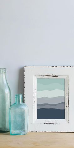 Home decor and gifts for the beach bum in us all. Define your own style of coastal comfort. Offering the perfect nautical accents for ocean lovers. Blue Abstract, Abstract Canvas, Blue Canvas, Kids Beach Bathroom, Beach Chic Decor, Navy Blue Walls, Wall Groupings, Blue Wall Decor, Mint And Navy