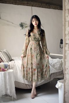 My style Korean Girl Fashion, Ulzzang Fashion, Cute Fashion, Asian Fashion, Modest Fashion, Fashion Dresses, Stylish Dresses, Modest Dresses, Casual Dresses