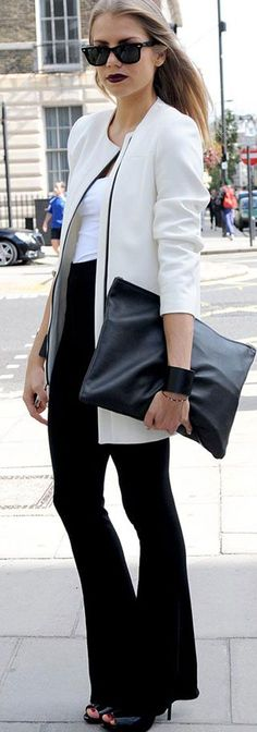 Modern and Chic Black and White Outfit