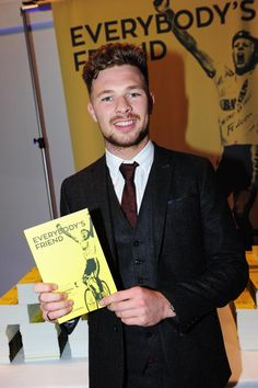 Going to Sky from Wiggins - (Photo: Owain Doull with the new Dave Rayner book)