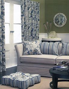 I really like the idea of getting custom made curtains to match the decor in the rest of my house. In fact, I have a really cute throw pillow on my couch that I would love to have my curtains mimic. I just really love the colors of the pillow and think that it would look great to add a little bigger splash of color to the room.