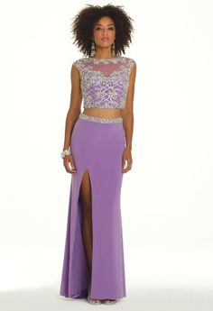 429.99 Get the hottest look for Prom 2014! Here's what you'll need in that perfect dress: a two-piece ensemble, illusion details, sparkling beading, and a sexy slits