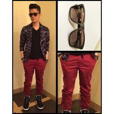 Vhong's Fashion Guide. Vhong Navarro, Fashion Guide, Emporio Armani, Style Guides, Leather Pants, Instagram Posts, Leather Jogger Pants, Lederhosen, Leather Leggings