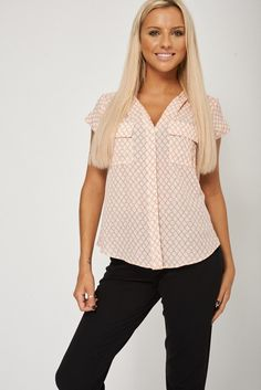 Multi Colour Shirt With front pockets Ex-Branded
