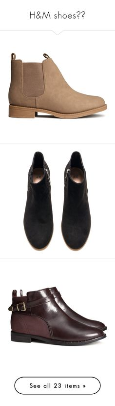 """""""H&M shoes❤️"""" by ale-directioner-16 ❤ liked on Polyvore featuring shoes, boots, ankle booties, botas, zapatos, light brown, chelsea bootie, chelsea boots, h&m booties and light brown boots"""