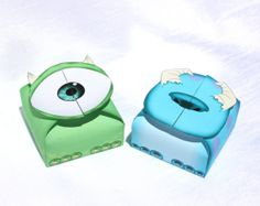 Monsters Inc  Inspired Mike and Sulley Gift Box Set by Shnookers, $5.00
