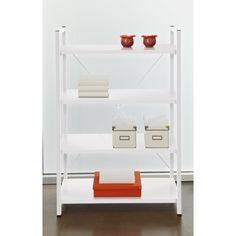 Tribeca White 4-shelf Bookcase - Overstock™ Shopping - Great Deals on Jesper Office Media/Bookshelves