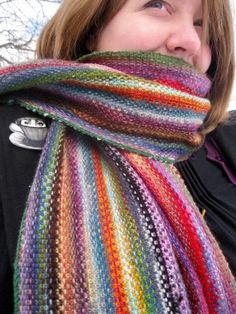 Linen Stitch Scarf - for the knitters!