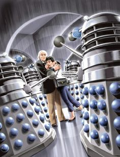 10 Doctor Who Illustrations...just watched some old ones....how does The Doctor have a granddaughter and why is he so old?
