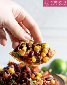 Looking for the perfect easy dip recipe for summer! This Corn and Black Bean Salsa is delicious and easy to make!