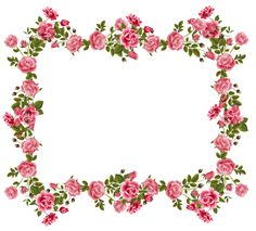Rose Borders And Frames | roses scrapbooking frames and journaling spot AND butterfly border ...