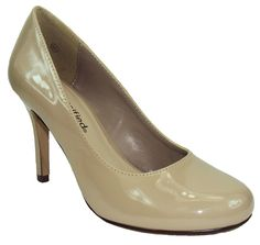 City Classified Women Classic Heel Pumps Beige Nude Patent Closed Round Toe CAN- in Clothing, Shoes & Accessories, Women's Shoes, Heels | eBay